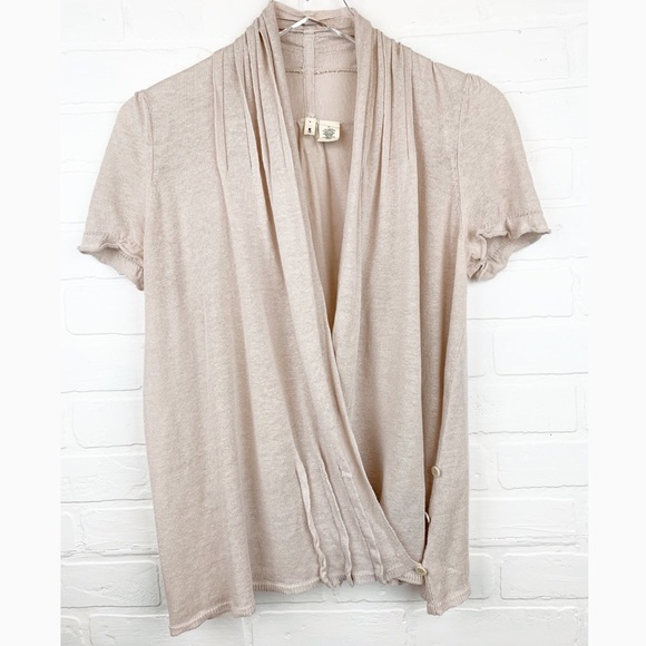 1f29b06f5f Moth Sweaters | Anthropologie Sweet Linen Wrap Cardigan | Poshmark